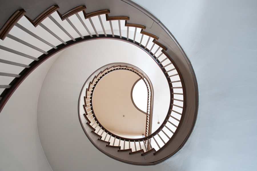 Trustees' House Stair, Shakertown at Pleasant Hill, KY by Guy Mendes